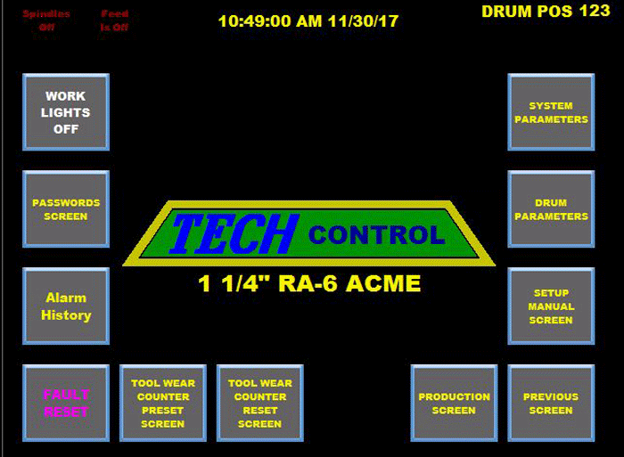 TechControl electrical control package for screw machines