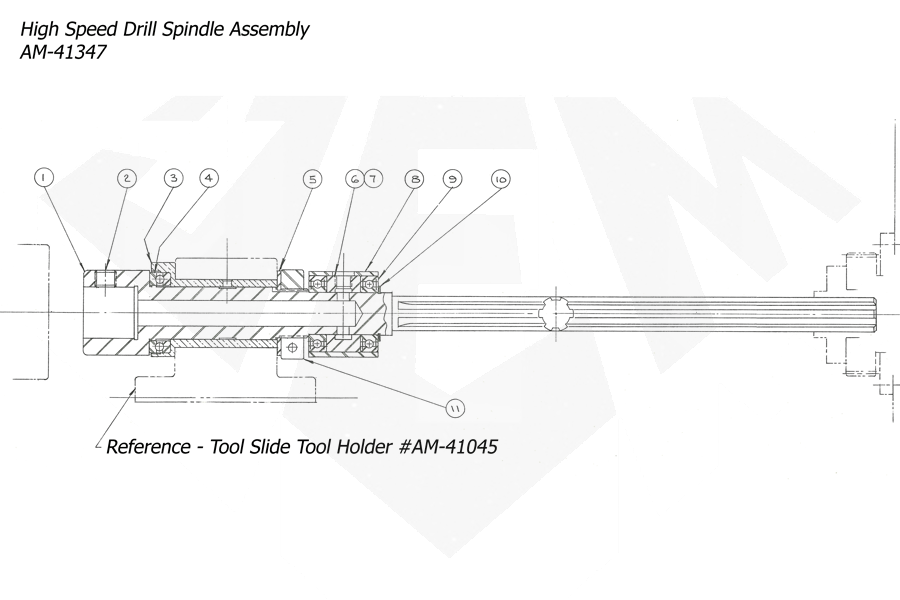 1148-Attachment-High-Speed-Drilling-1-Spindle-Assembly