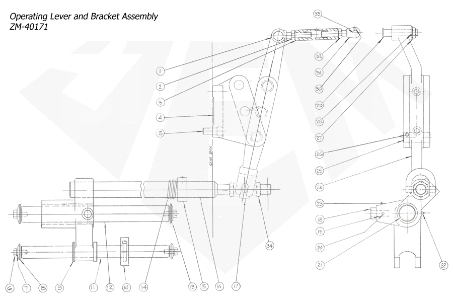 1148-Attachment-Reaming-3rd-Threading-3rd-Operating-Lever-Bracket-Assembly