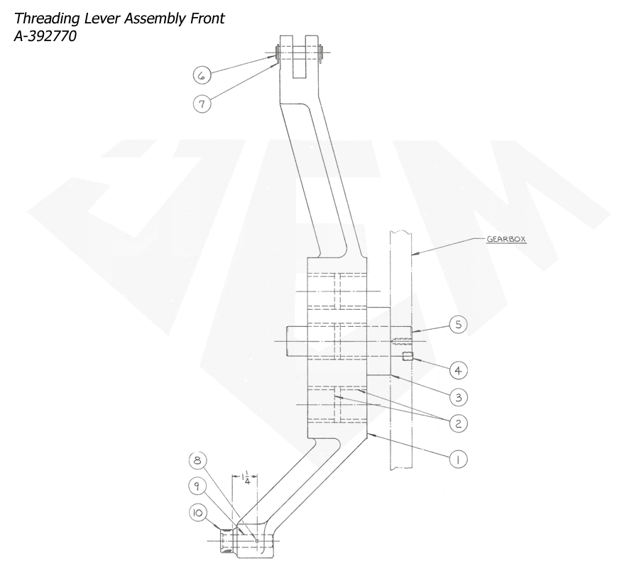 1148-Attachment-Reaming-4th-Threading-4th-Threading-Lever-Assembly
