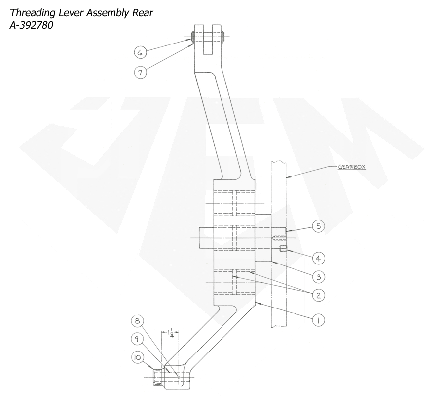 1148-Attachment-Reaming-5th-Threading-5th-Threading-Lever-Assembly