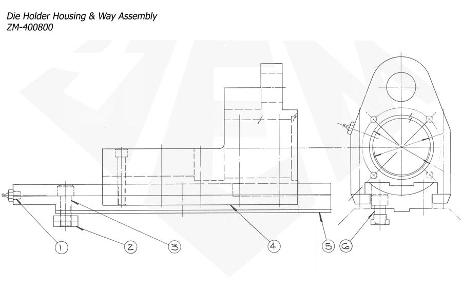 1148-Attachment-Threading-3rd-6th-7th-Die-Holder-Housing-Way-Assy