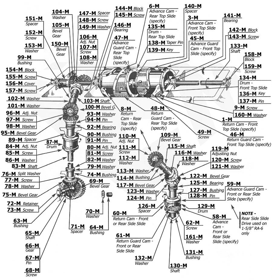 Acme Gridley 1-1/4 RB-8 Parts Catalog Group M top