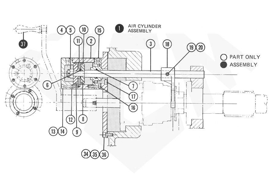 1588N-Feed-Clutch-Air-Cylinder